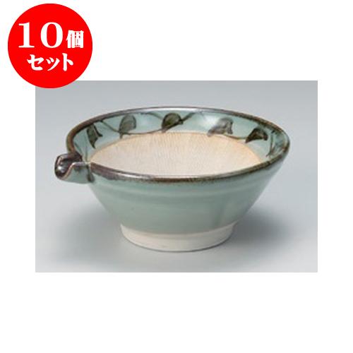 10個セット すり鉢 貫入唐草 片口4.0すり鉢 [14 x 12.5 x 5.5cm] 【料亭 カフェ 和食器 飲食店 業務用】