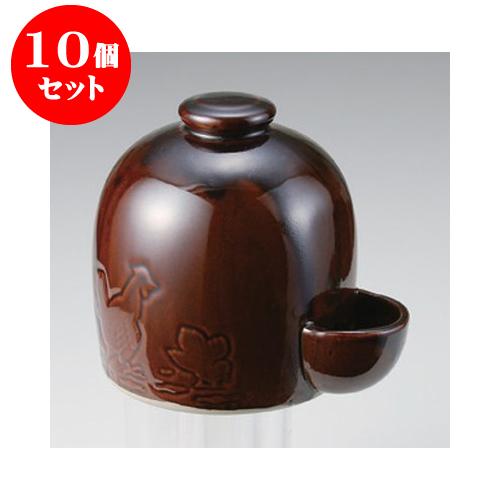 10個セット 雑器 ホーダン型鳥水呑10号 [15 x 16cm] 【お盆 供養 神事 お墓 仏壇 佛具】