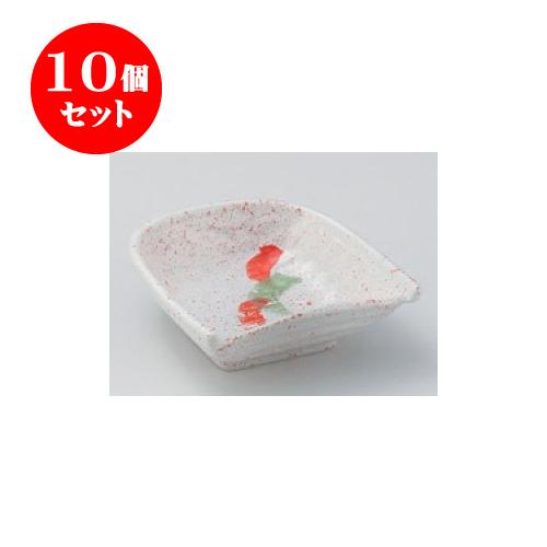 10個セット 松花堂 赤絵籠小鉢 [10.5 x 10.5 x 4cm] 【旅館 料亭 和食器 飲食店 業務用】