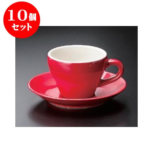 10個セット 碗皿 Real RedMIDI コーヒーC/S [15.3 x 2cm] | コーヒー カップ ティー 紅茶 喫茶 人気 おすすめ 食器 洋食器 業務用 飲食店 カフェ うつわ 器 おしゃれ かわいい ギフト プレゼント 引き出物 誕生日 贈答品