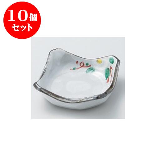 10個セット 松花堂 椿角鉢 [11 x 11 x 3.7cm] 【料亭 旅館 和食器 飲食店 業務用】