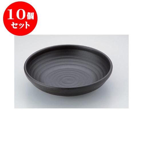 10個セット 陶板 パエリアパン黒手なし10号 [30 x 7.3cm] 直火 【料亭 旅館 和食器 飲食店 業務用】