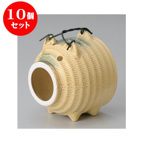 10個セット 蚊取り器 イラボ豚(萬古焼) [13.5 x 13.5 x 16.5cm] 【料亭 旅館 和食器 飲食店 業務用】