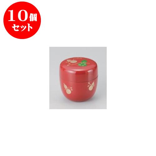 10個セット 茶道具 P.Cなつめ(赤)(柄は変わります) [6.5 x 6.5cm] 【料亭 旅館 和食器 飲食店 業務用】