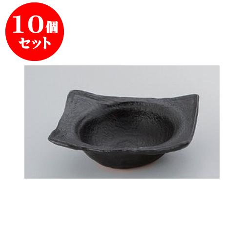 10個セット 陶板 黒5号帽子型鍋 [16 x 13.5 x 4.5cm] 直火 【料亭 旅館 和食器 飲食店 業務用】