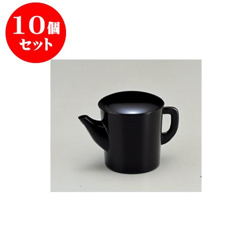 10個セット そば用品 [A](大)ゆとう黒(500) [10.6 x 10.1cm] 【料亭 旅館 和食器 飲食店 業務用】