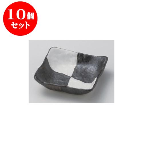 10個セット 松花堂 市松4.0浅鉢 [11 x 11 x 3.2cm] 【料亭 旅館 和食器 飲食店 業務用】