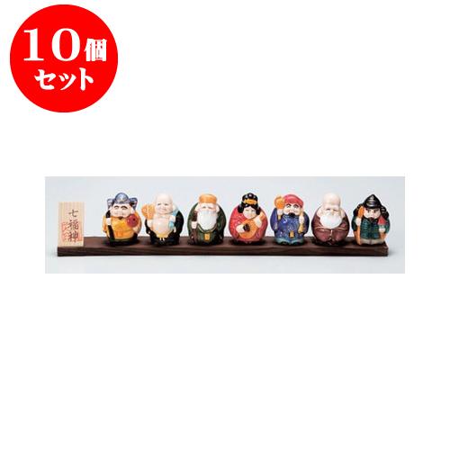 10個セット 縁起の福飾り 七福神開運板付き [37.5 x 4 x 12cm] 【インテリア 縁起物 置物】