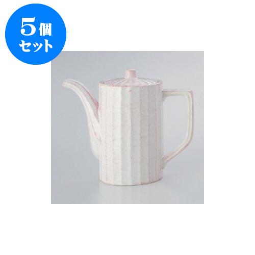 5個セット 鍋用品 粉引汁次(大) [10 x 16.5cm 900cc] 【料亭 旅館 和食器 飲食店 業務用】