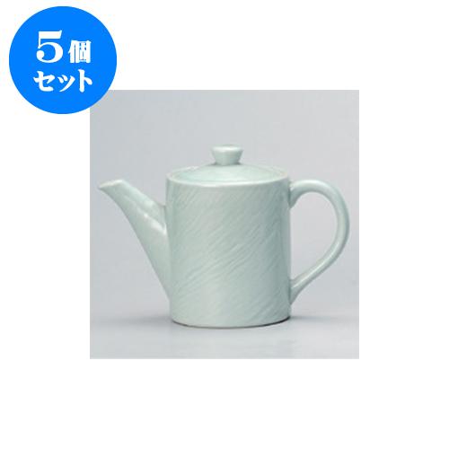 5個セット 鍋用品 青磁木目汁次(大) [11 x 14.5cm 1000cc] 【料亭 旅館 和食器 飲食店 業務用】