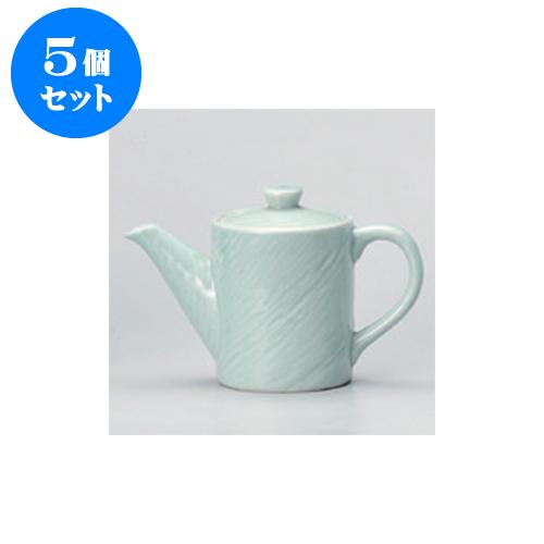 5個セット 鍋用品 青磁木目汁次(小) [9 x 12.5cm 500cc] 【料亭 旅館 和食器 飲食店 業務用】