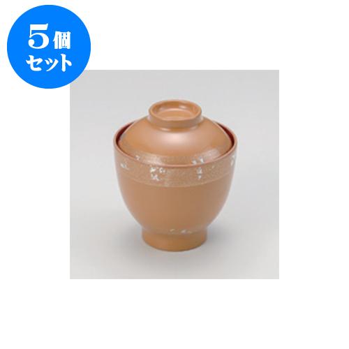 5個セット 小吹椀 白箔散 福型小吸椀 [8.3 x 9cm] 耐熱 木合・耐熱 【料亭 旅館 和食器 飲食店 業務用】