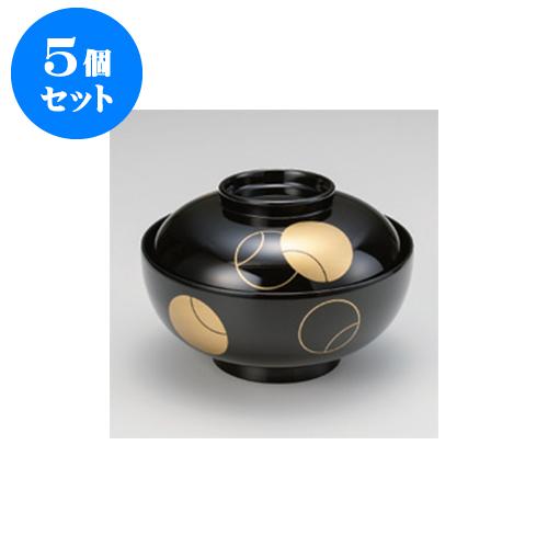 5個セット 煮物椀 壷々4.5寸煮物椀 [13.5 x 9.1cm] 耐熱 木合・耐熱 【料亭 旅館 和食器 飲食店 業務用】