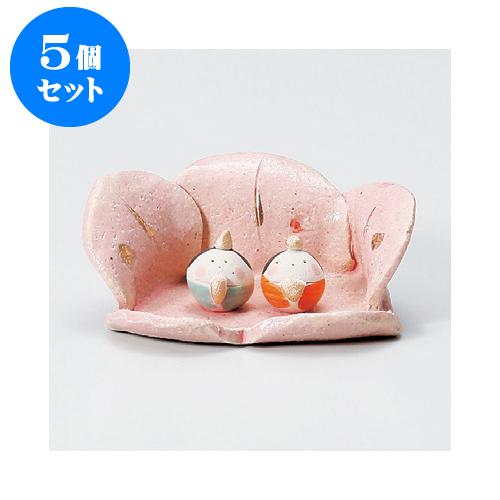 5個セット 縁起の福飾り 桃の花かご雛 [4.2cm] 【インテリア 縁起物】