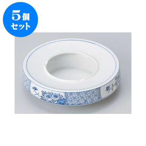 5個セット 灰皿 四君子6.0灰皿 [18 x 5cm] 【和食器 料亭 旅館 飲食店 業務用】