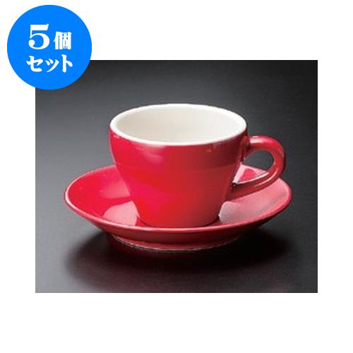 5個セット 碗皿 Real RedMIDI コーヒーC/S [15.3 x 2cm] | コーヒー カップ ティー 紅茶 喫茶 人気 おすすめ 食器 洋食器 業務用 飲食店 カフェ うつわ 器 おしゃれ かわいい ギフト プレゼント 引き出物 誕生日 贈答品