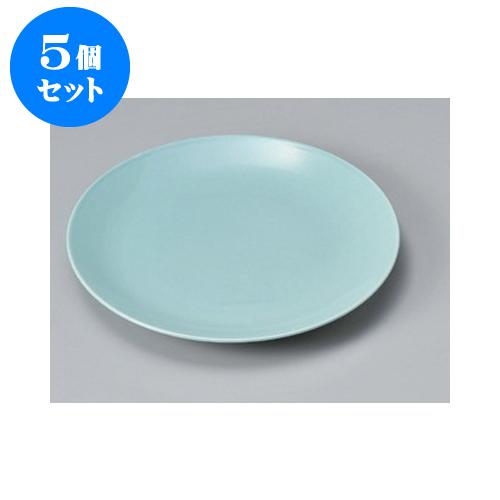 5個セット 萬古焼大皿 高麗青瓷11号皿(メタ) [33.5 x 4.3cm] 【料亭 旅館 和食器 飲食店 業務用】