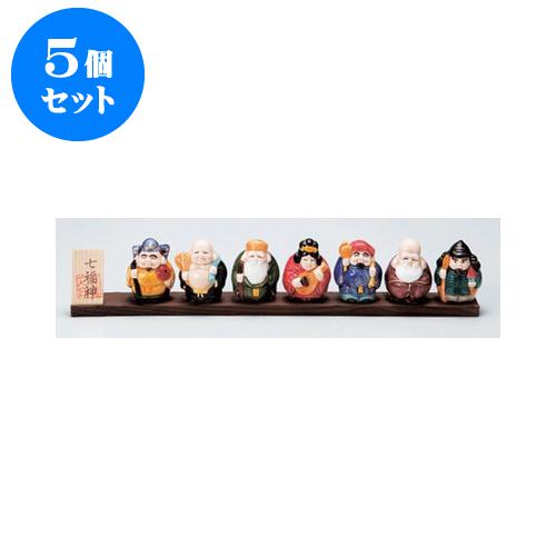 5個セット 縁起の福飾り 七福神開運板付き [37.5 x 4 x 12cm] 【インテリア 縁起物 置物】