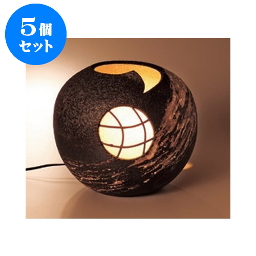 5個セット 信楽焼置物 信楽焼花楓室内用照明 [24 x 22cm]電球15W 【料亭 旅館 和食器 飲食店 業務用】
