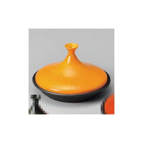 アルミ製品 タジン鍋(黄)フッ素D25 [25.5 x 15.7cm 1300cc] 直火 【料亭 旅館 和食器 飲食店 業務用】