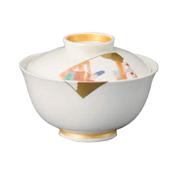 錦百人一首蓋向 [ 10.7 x 8cm ] 【 円菓子碗 】 | 料亭 旅館 和食器 飲食店 業務用