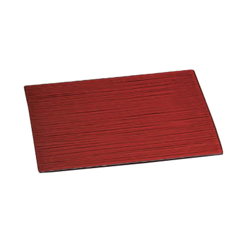 ヴィンテージレッド28cm線紋平長角皿 [ 28.2 x 20 x 1cm ] 【 長角大皿 】 | 料亭 旅館 和食器 飲食店 業務用