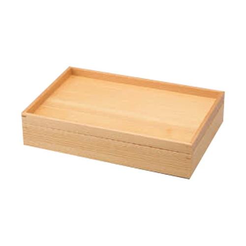 白木料理箱 二段トレイタイプ [ 30.7 x 20.7 x 4.7cm ] 【 民芸雑器 】 | 料亭 旅館 和食器 飲食店 業務用