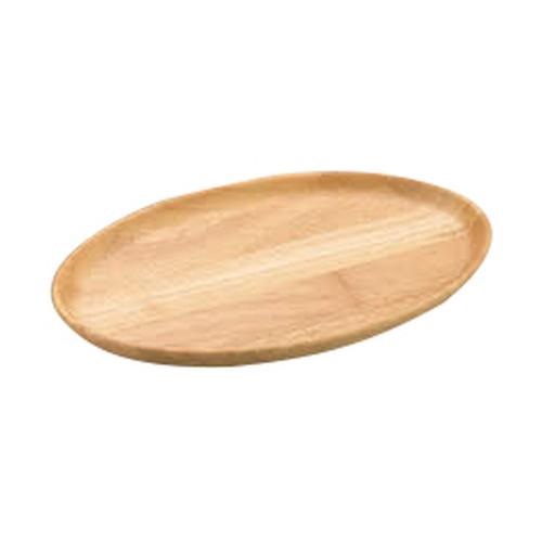 木製カフェトレイ オーバル ナチュラル [ 30 x 20 x t2.7cm ] 【 民芸雑器 】   カフェ 飲食店 自宅用 業務用