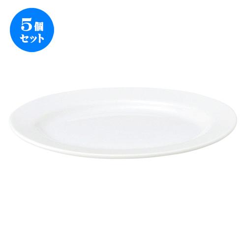5個セット☆ 楕円皿 ☆ 白翔 10プラター [ L-26 S-19 H-2.5cm ] 【 料亭 旅館 和食器 洋食器 中華食器 レストラン ホテル カフェ 飲食店 業務用 白 ホワイト】
