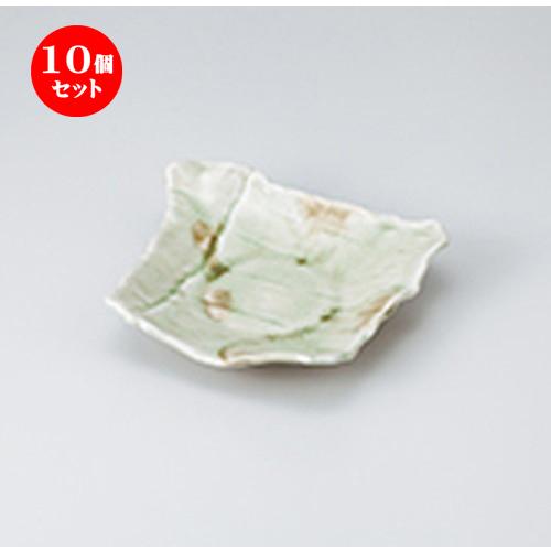10個セット ☆ 和皿 ☆ ビードロ変型皿 [ 17 x 16 x 4cm ] 【 料亭 旅館 和食器 飲食店 業務用 】