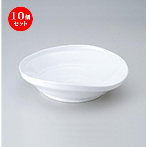 10個セット ☆ 多用鉢 ☆ 白磁たわみ8.0鉢 [ 23 x 22 x 5.5cm ] 【 料亭 旅館 和食器 飲食店 業務用 】