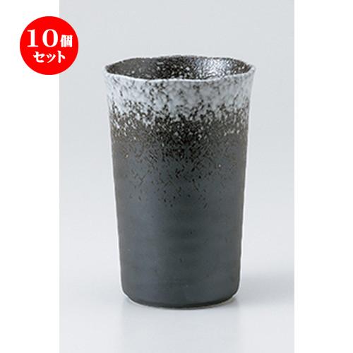 10個セット ☆ フリーカップ ☆ 白吹チューハイカップ [ 8.7 x 13.2cm ・ 435cc ] 【 料亭 旅館 居酒屋 和食器 飲食店 業務用 】