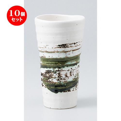 10個セット ☆ フリーカップ ☆ 山科(白)焼酎カップ [ 8.4 x 1.5cm ・ 430cc ] 【 料亭 旅館 居酒屋 和食器 飲食店 業務用 】
