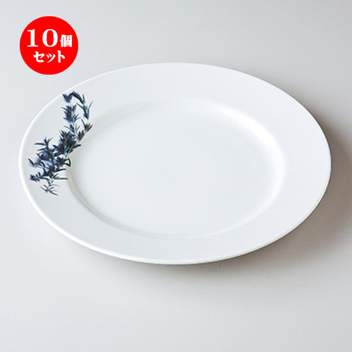 10個セット☆ モダンスタイル ☆ ローズマリー28cmプレート [ 28 x 2.2cm ] 【 レストラン ホテル カフェ 洋食器 飲食店 業務用 】