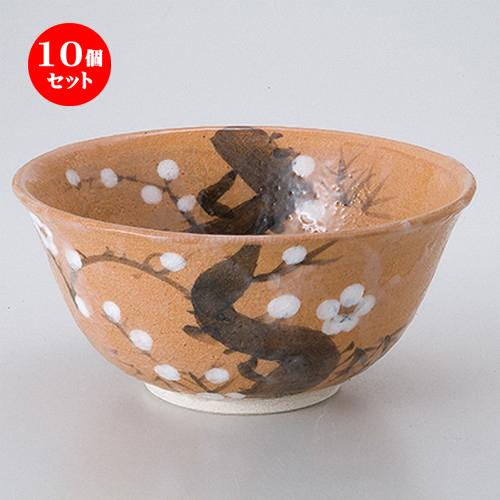 10個セット☆ 茶道具 ☆ 紅志野菓子鉢(景陶作)(化) [ 18 x 8.5cm ] 【 茶道具 抹茶 茶道 茶器 】