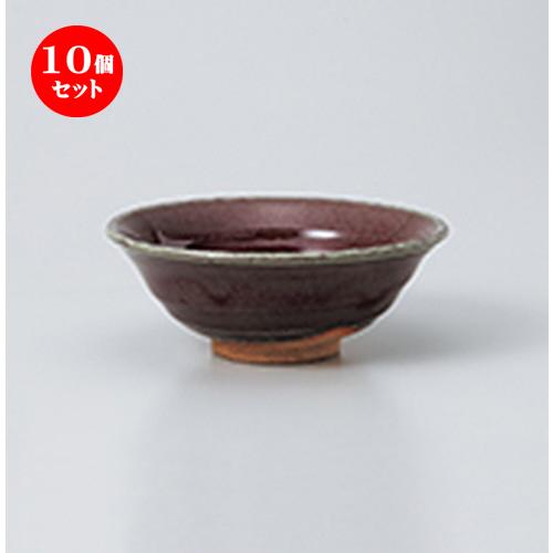 10個セット☆ 抹茶碗 ☆ 辰砂夏抹茶 [ 14.5 x 5.5cm ] 【 茶道具 抹茶 茶道 茶器 】