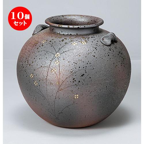 10個セット☆ 花瓶 ☆ 10号金彩小花(丸) [ 31 x 28.5cm ] 【 インテリア 置物 料亭 旅館 業務用 】