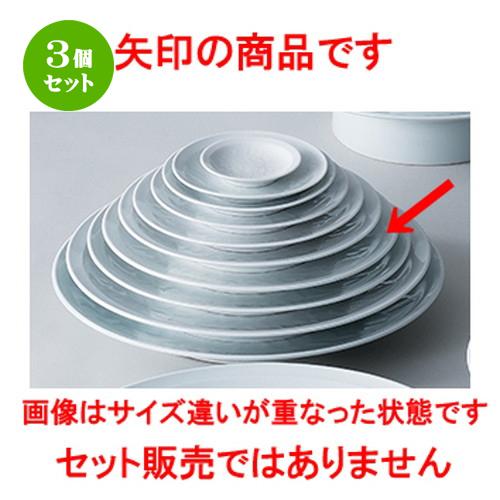 3個セット☆ 和陶オープン ☆ 白磁唐草 9.0皿 [ 28.2 x 4cm ] 【 料亭 旅館 和食器 飲食店 業務用 】