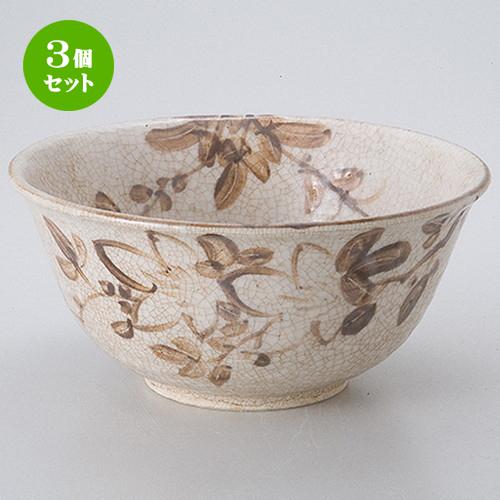 3個セット ☆ 茶道具 ☆ 志野菓子鉢(景陶作)(化) [ 18 x 8.5cm ] 【 茶道具 抹茶 茶道 茶器 】
