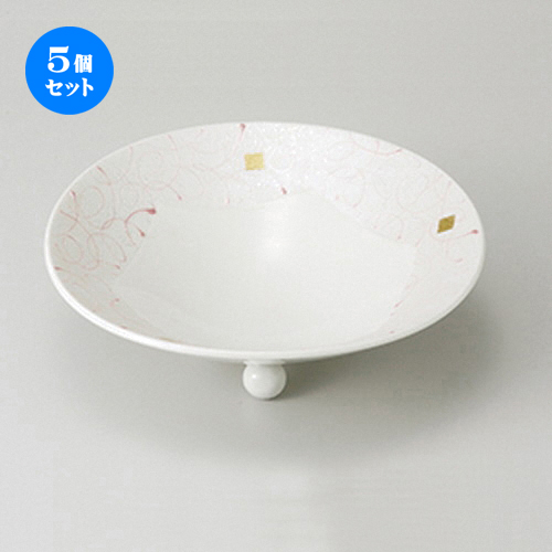 5個セット☆ 向付 ☆ 乱線ピンク6寸向付 [ 18.8 x 6cm ] 【 料亭 旅館 和食器 飲食店 業務用 】