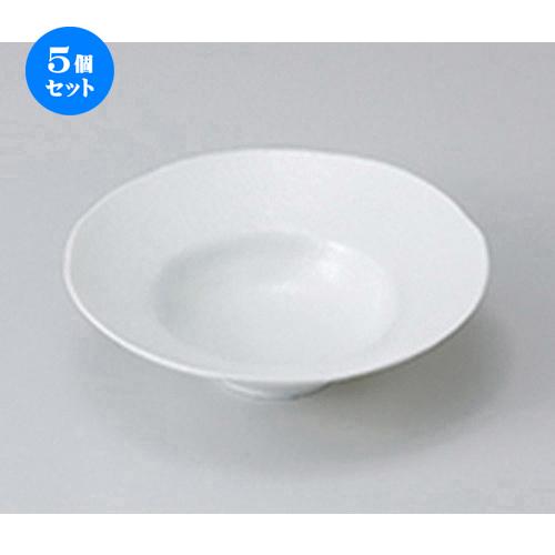 5個セット☆ 中鉢 ☆ 白釉5.5リムボール [ 16 x 4.6cm ] 【 料亭 旅館 和食器 飲食店 業務用 】