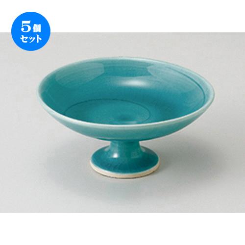 5個セット☆ 小鉢 ☆ 緑彩釉4.0高台皿 [ 12 x 5.5cm ] 【 料亭 旅館 和食器 飲食店 業務用 】