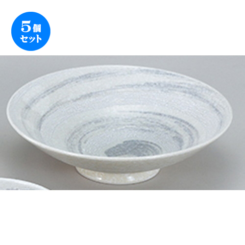 5個セット☆ 和陶オープン ☆ 粉引やまなみ 9.0盛鉢 [ 28.4 x 8cm ] 【 料亭 旅館 和食器 飲食店 業務用 】