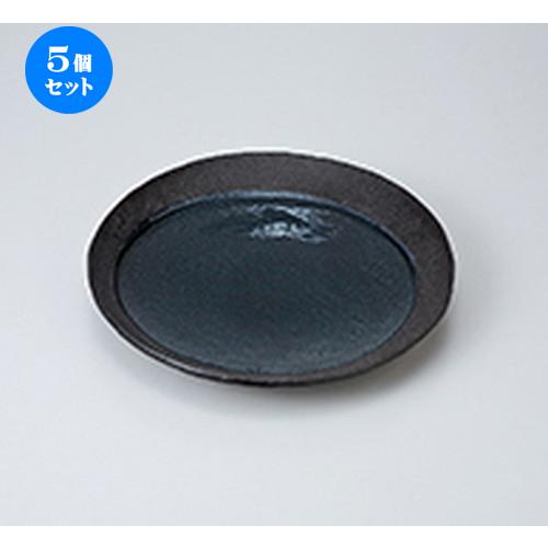5個セット☆ 和皿 ☆ 月光24cm丸皿 [ 24.5 x 3cm ] 【 料亭 旅館 和食器 飲食店 業務用 】