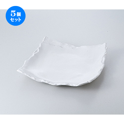 5個セット☆ 盛込皿 ☆ 白マット重ね8.5皿 [ 25 x 26 x 4.3cm ] 【 料亭 旅館 和食器 飲食店 業務用 】