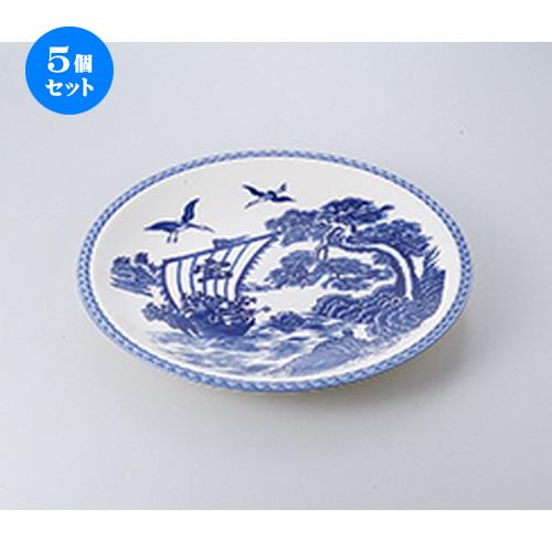 5個セット☆ 萬古焼盛込皿 ☆ 宝舟 12.0大皿 [ 36.5 x 36.5 x 4cm ] 【 料亭 旅館 和食器 飲食店 業務用 】