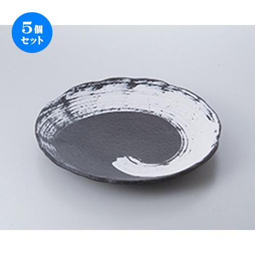 5個セット☆ 萬古焼盛込皿 ☆ いぶし釉10.0丸皿 [ 31 x 4cm ] 【 料亭 旅館 和食器 飲食店 業務用 】