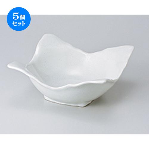 5個セット ☆ 多用鉢 ☆ 白結晶四方鉢(大) [ 19.5 x 19.5 x 8.5cm ] 【 料亭 旅館 和食器 飲食店 業務用 】