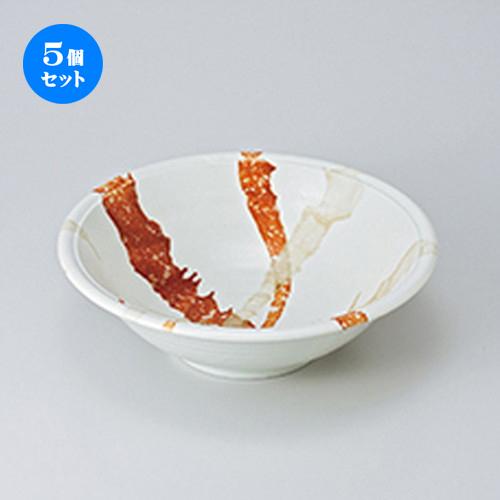 5個セット ☆ 多用鉢 ☆ 白東雲8寸深鉢 [ 24 x 7.8cm ] 【 料亭 旅館 和食器 飲食店 業務用 】