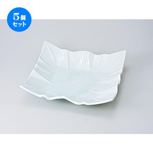 5個セット☆ 盛込鉢 ☆ 青白磁折紙正角32cm大盛皿 [ 32.3 x 32.3 x 9cm ] 【 料亭 旅館 和食器 飲食店 業務用 】